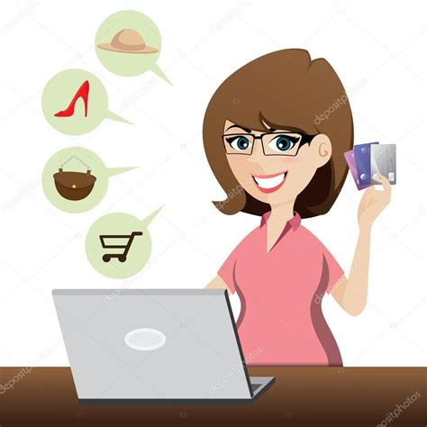 Online Mastercard Gift Card - cartoon cute girl shopping online with credit cards stock vector 169 noppadol 47520223