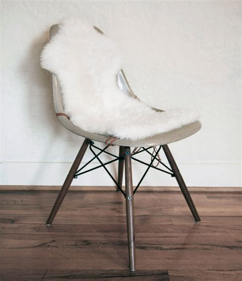 Eames Chair Covers by Australian Sheepskin Covers For Eames Shell Chairs By Lumihome