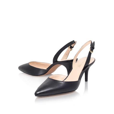 Back Heels nine west margareth mid heel sling back shoes in black lyst