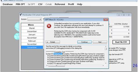 Format Csv Untuk Espt   coret asal asalan error saat membuat file csv espt 21 2014