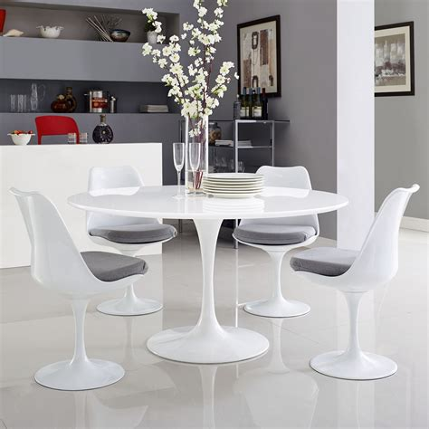 lippa   wood top dining table white
