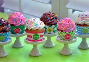 creative cupcake stand monogram lane