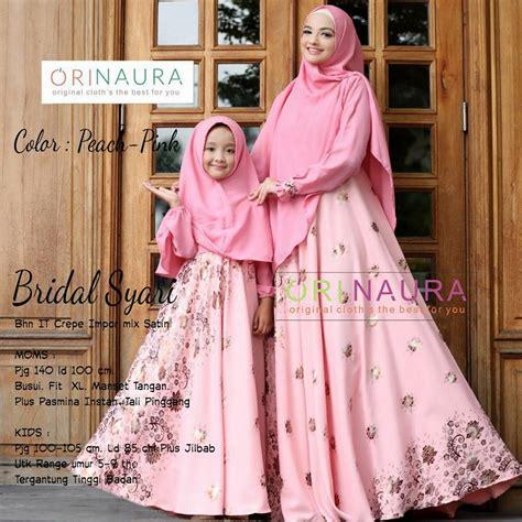 Jilbab Anak Polkadot Biru Mix Pink Bekasi Murah Bgt bridal by orinaura pink