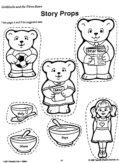 Printable Coloring Pages For Goldilocks And The Three Bears | goldilocks and the three bears coloring pages coloring home
