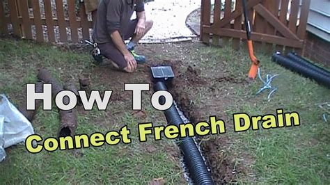 how to install a l post home design appealing how to install a french drain with