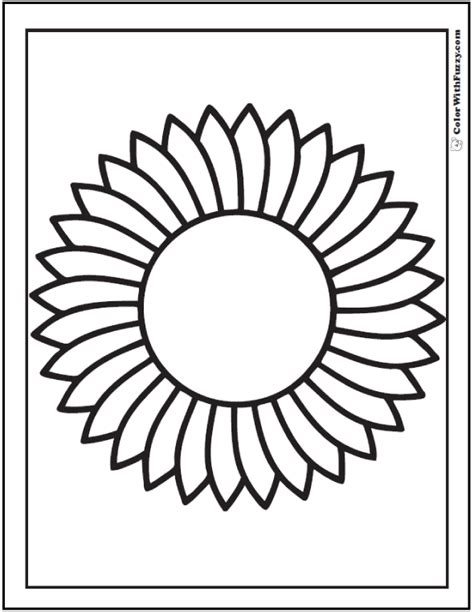 sunflower coloring pages preschool sunflower worksheets the best and most comprehensive
