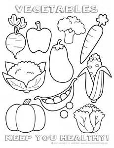 Printable Healthy Eating Chart Coloring Pages Vegetable Coloring Pages For Preschoolers