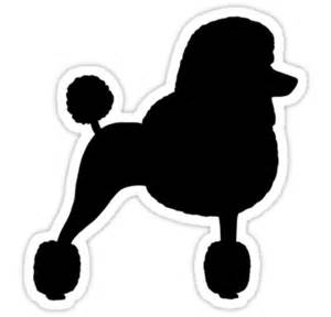 quot standard poodle silhouette black with fancy haircut