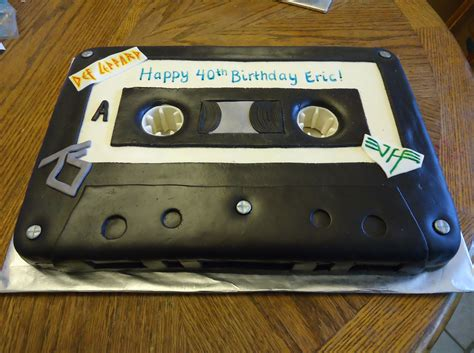 cassette    birthday party    theme recipe  black fondant bs sweet