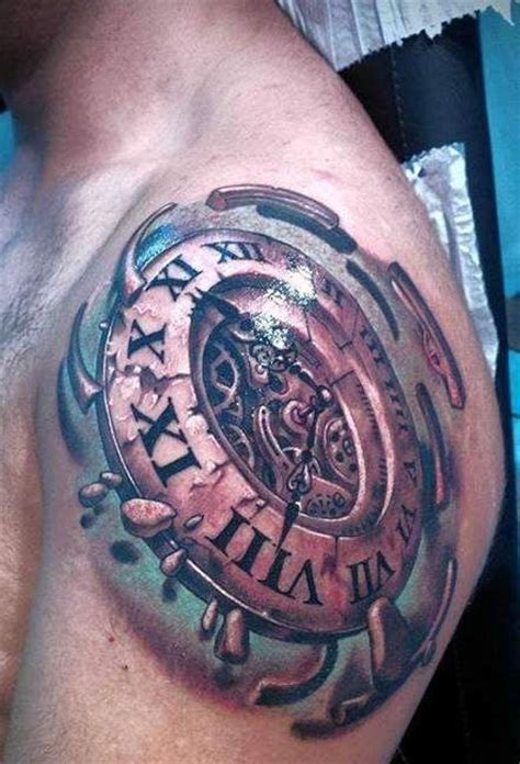 clock tattoo designs for men google zoeken tattoos