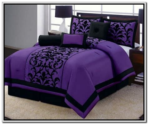 dark purple comforter 28 purple and black bedding sets total fab purple