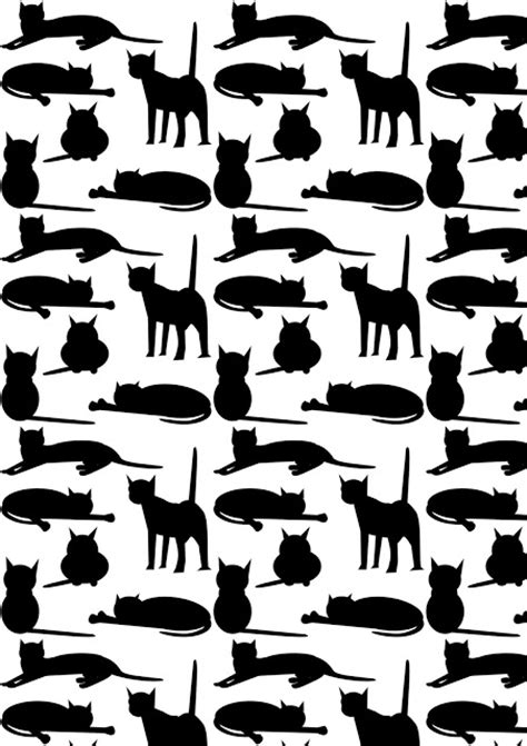 black and white themed pattern free cat images free digital cat pattern black and