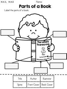 parts of a book report parts of a book cut and paste activity worksheets books