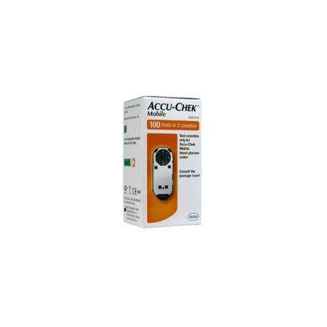 accu chek mobile test cassette 100 accu chek mobile test cassettes boite de 100 tests dans 2