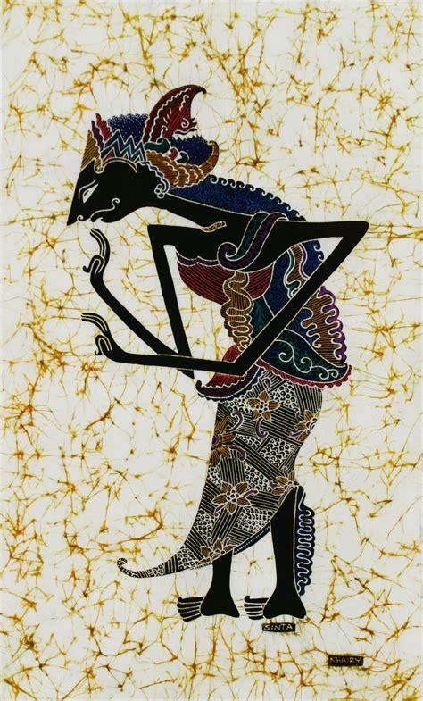 Batik Wayang Ukir Batik Wayang Pundak batik painting wayang kulit by khairy 45cm x 75cm asiansecrets my