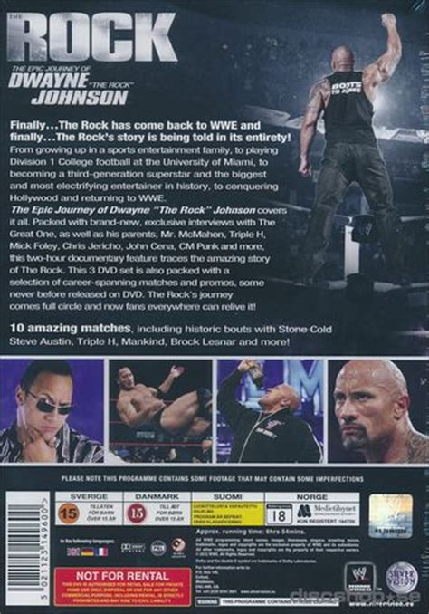 dwayne the rock johnson epic journey wwe epic journey of dwayne the rock johnson 3 disc
