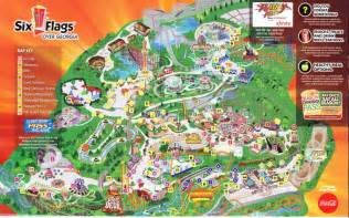 map of six flags six flags 2013 park map