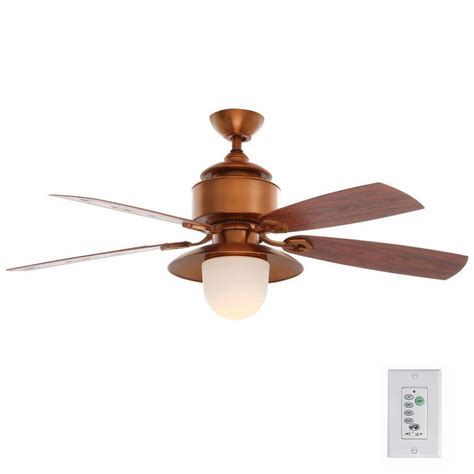 indoor outdoor ceiling fan with light hton bay copperhead 52 in indoor outdoor weathered