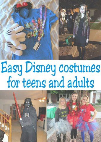 easy disney costumes  teens  adults