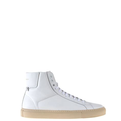 plain white high top sneakers givenchy high top lace up sneakers in white for lyst