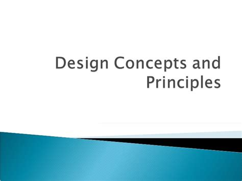design concept principles design concepts and principles