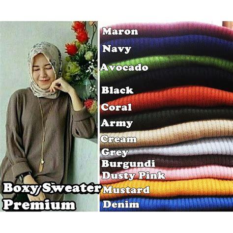 Tiger Baju Rajut boxy sweater premium jumbo baju rajut atasan wanita