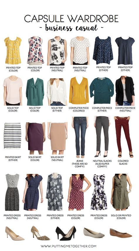 over 50 casual wardrobe essentials business casual capsule wardrobe putting me together