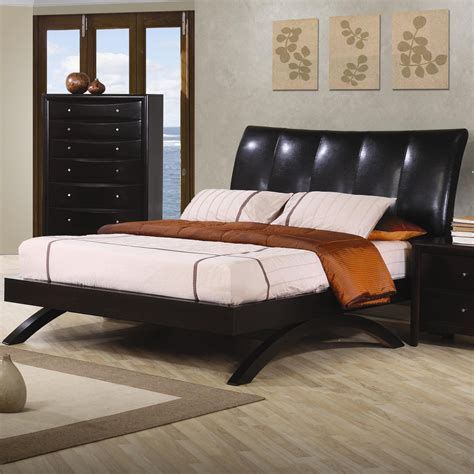 coaster bed phoenix collection bedroom black bed coaster 300356q