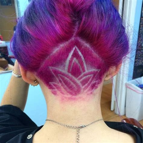 flower design in hair undercut shaved designs for women hair world magazine