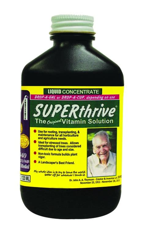 thrive w supplement superthrive 4 ounces 4oz oz b vitamins plant food