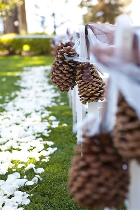 Wedding Aisle Marker Decoration by Top 20 Winter Wedding Ideas With Pines