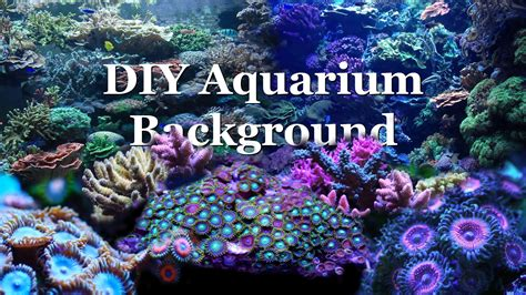 Saltwater Aquascaping How To Diy Aquarium Background Youtube