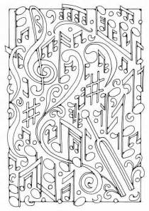 coloring music musical notes 3