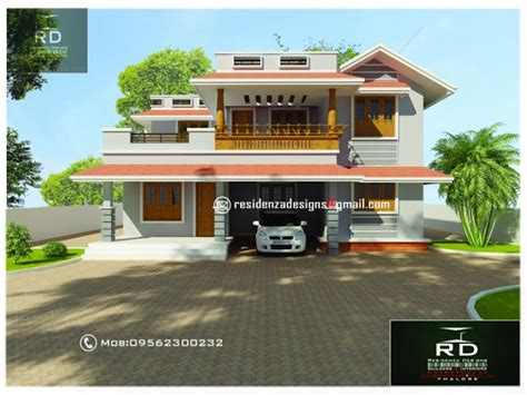 home design for 1800 sq ft 1800 sq ft 3 bhk kerala small house design by bibin