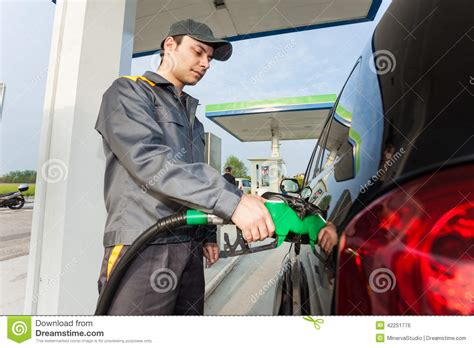 at work at a gas station stock photo image 42251776