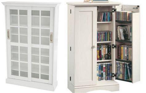 dvd cabinet with doors white white dvd storage cabinet choozone