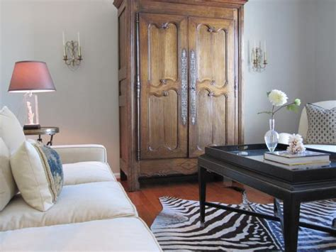 living room armoire transitional living room