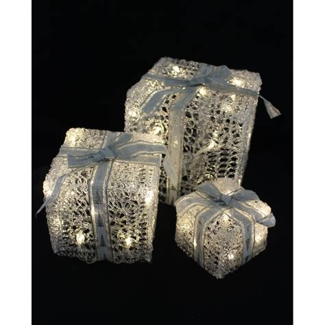 3 Piece Led Light Up Gift Boxes Christmas From Tj Hughes Uk Light Up Boxes