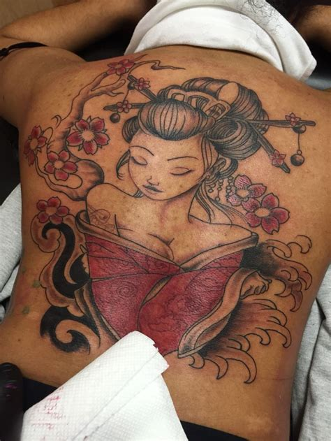 geisha tattoo tattoozbylou tattoos pinterest tattoo