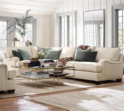 pb comfort arm sectional components slipcovers