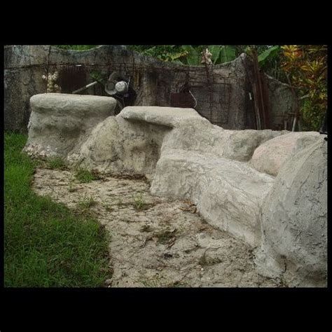 fake stone bench tops bench seat stone retaining wall and faux stone on pinterest