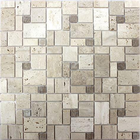 mosaik fliesen beige self adhesive travertine mosaic tiles beige tm33435