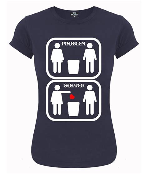 Tshirt Problem Solved Yellow buy incynk blue problem solved t shirt at best prices in india snapdeal