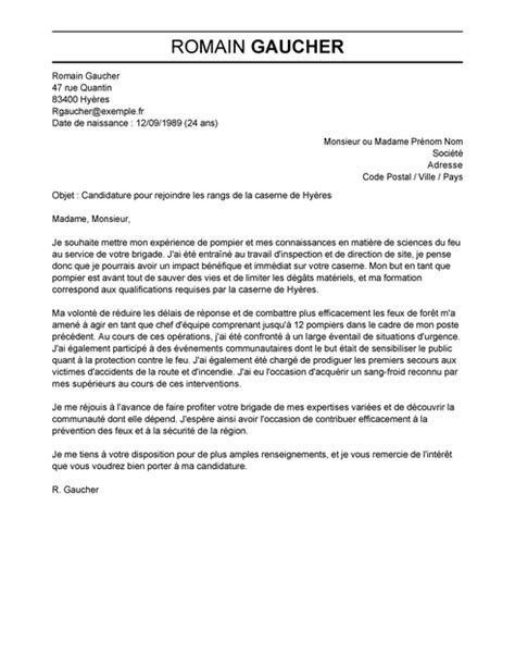 Lettre De Motivation De Sapeur Pompier Lettre De Motivation Pompier Exemple Lettre De