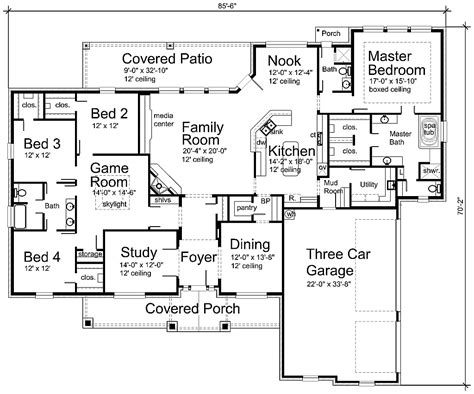 Home Blueprints by Luxury House Plan S3338r Texas House Plans Over 700