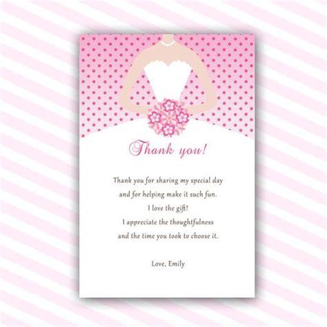 printable bridal shower thank you notes dress thank you cards bridal shower thank you notes sweet