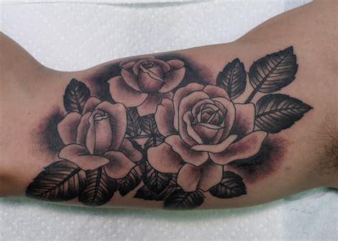 black and grey rose sleeve tattoo black grey roses flower tattoos tattoos