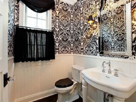 black and white wallpaper for bathrooms black and white bathroom wallpaper decor ideasdecor ideas