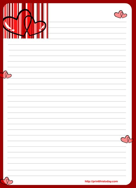 free letter writing template free letter pad printable