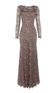 temperley london long cleo lace dress in pink lyst